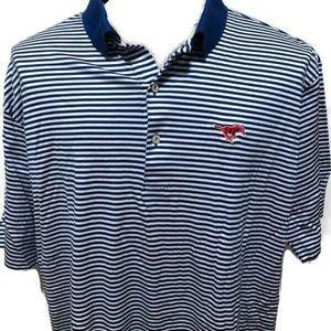 Peter Millar SMU Mustangs Golf Polo Shirt Size XXL